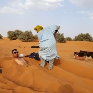 Merzouga threatment - Sand Bath In Desert during summer months
